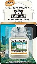 Parfums et Produits cosmétiques Désodorisant pour voiture Coton fraîchement lavé - Yankee Candle Car Jar Ultimate Clean Cotton