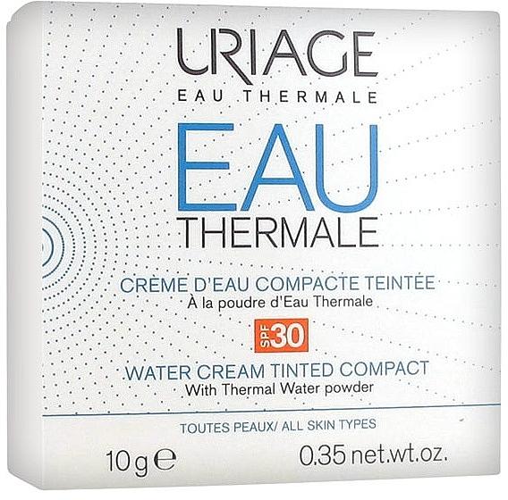 Crème d'eau compacte teintée à la poudre d'eau thermale pour visage - Uriage Eau Thermale Water Tinted Cream Compact SPF30