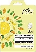 Parfums et Produits cosmétiques Masque tissu à la vitamine C pour visage - Polka Lemon And Vitamin C Facial Sheet Mask
