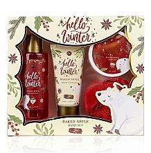 Parfums et Produits cosmétiques Coffret cadeau - Accentra Hello Winter Baked Apple (sh/g/150ml + b/lot/60ml + salt/70g + sponge)