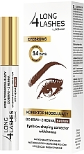 Parfums et Produits cosmétiques Correcteur au henné pour cils et sourcils - Long4Lashes Eyebrow Shaping Corrector with Henna
