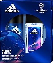Parfums et Produits cosmétiques Adidas UEFA Champions League Victory Edition - Set (déodorant spray/75ml+déodorant/150ml)