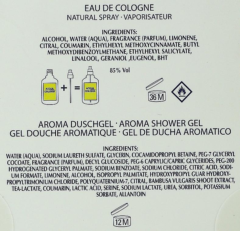 Maurer & Wirtz 4711 Aqua Colognia Lime & Nutmeg - Coffret cadeau (eau de cologne 170 ml + gel douche 200 ml) — Photo N2