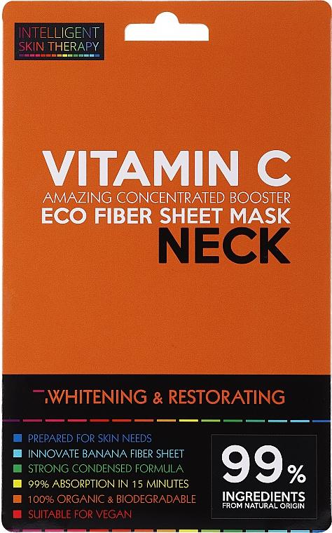 Masque tissu à la vitamine C pour cou - Beauty Face IST Whitening & Restorating Neck Mask Vitamin C
