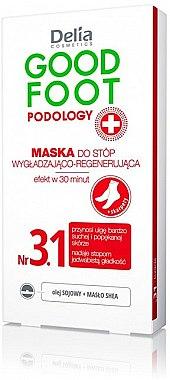 Masque à l'huile de soja et beurre de karité pour pieds - Delia Cosmetics Good Foot Podology Nr 3.1
