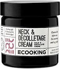 Parfums et Produits cosmétiques Crème à l'huile de tournesol bio pour cou et décolleté - Ecooking Neck & Decolletage Cream