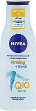 Parfums et Produits cosmétiques Lait raffermissant au menthol et coenzyme Q10 pour jambes - Nivea Firming+Fresh Q10+Menthol Legs Lotion