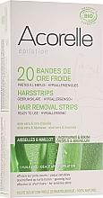 Parfums et Produits cosmétiques Bandes de cire froide à l'extrait d'aloe vera - Acorelle Wax Strips