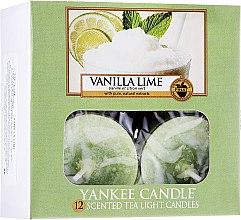 Parfums et Produits cosmétiques Bougies chauffe-plats parfumées Vanille et citron vert - Yankee Candle Scented Tea Light Candles Vanilla Lime