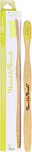 Parfums et Produits cosmétiques Brosse à dents en bambou, médium, jaune - The Humble Co.