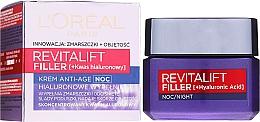 Parfums et Produits cosmétiques Crème de nuit à l'acide hyaluronique - L'Oreal Paris Revitalift Filler Hyaluronic Acid Night Cream