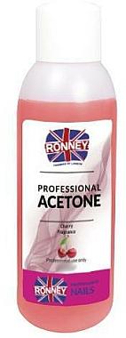 Dissolvant pour vernis à ongles à la cerise - Ronney Professional Acetone Cherry