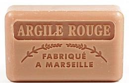 Parfums et Produits cosmétiques Savon végétal de Marseille, Argile rouge - Foufour Savonnette Marseillaise Argile Rouge