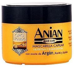 Parfums et Produits cosmétiques Masque à l'huile d'argan pour cheveux - Anian Liquid Gold Hair Argan Mask