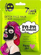 Parfums et Produits cosmétiques Masque pour visage - 7 Days Total Black Bye bye All Problems Detox Face Mask