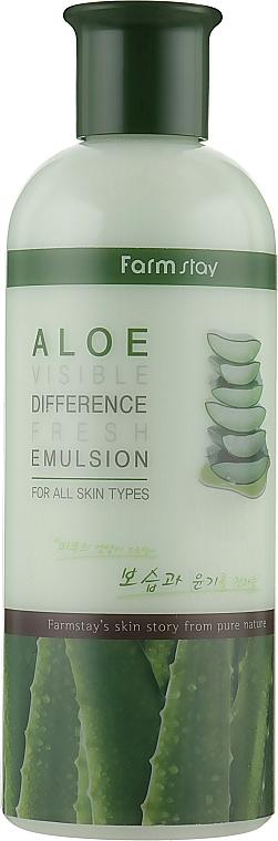 Émulsion à l'extrait d'aloe vera pour visage - FarmStay Visible Difference Fresh Emulsion Aloe