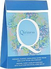 Parfums et Produits cosmétiques Qiriness - Set spa pour le visage (gommage pour le visage/20ml + sauna visage/8g + wrap purifiant/30g)