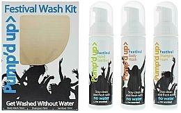 Parfums et Produits cosmétiques Pump'd Up Festival - Kit (shampooing/70ml + gel douche/70ml + désinfectant pour mains/70ml)