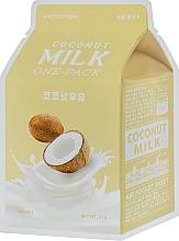 Parfums et Produits cosmétiques Masque tissu au lait de noix de coco pour visage - A'pieu Coconut Milk One-Pack