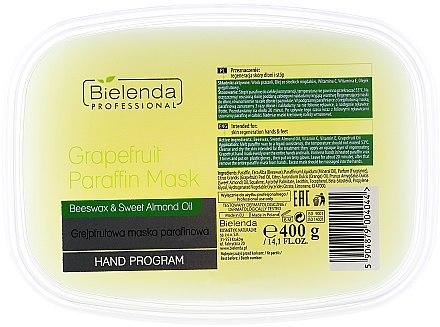 Masque à la paraffine et pamplemousse pour mains et pieds - Bielenda Professional Grapefruit Paraffin Mask Beeswax & Almond Oil