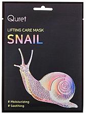 Parfums et Produits cosmétiques Masque tissu à la bave d'escargot pour visage - Quret Lifting Care Mask Snail