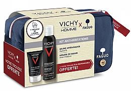 Parfums et Produits cosmétiques Coffret cadeau - Vichy Homme Sensitive After-Shave (foam/200ml + a/sh/balm/75ml + bag)