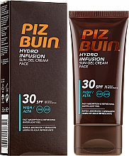 Parfums et Produits cosmétiques Gel-crème solaire pour le visage - Piz Buin Hydro Infusion SPF 30