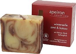 Parfums et Produits cosmétiques Savon d'hiver à la cannelle et cacao pour corps - Apeiron Cinnamon & Cocoa Winter Soap