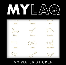 Parfums et Produits cosmétiques Autocollants pour ongles, Zodiaque - MylaQ My Water Sticker
