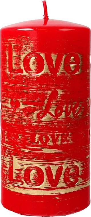 Bougie décorative rouge, 7x14 cm - Artman Lovely — Photo N1