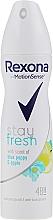Parfums et Produits cosmétiques Déodorant anti-transpirant, 48h, Pavot bleu et Pomme - Rexona Blue Poppy & Apple Stay Fresh