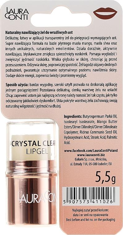 Gel hydratant pour les lèvres - Laura Conti Crystal Clear Hydro Lip Gel — Photo N2