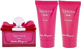 Parfums et Produits cosmétiques Salvatore Ferragamo Signorina Ribelle - Coffret (eau de parfum/50ml + gel douche/50ml + lotion corporelle/50ml)
