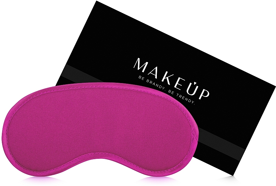 Masque de sommeil, couleur amarante (20 x 10 cm) - MakeUp