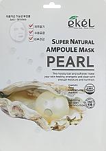 Parfums et Produits cosmétiques Masque tissu à l'extrait de perles pour visage - Ekel Super Natural Ampoule Mask Pearl