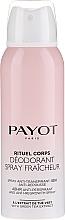 Parfums et Produits cosmétiques Déodorant spray à l'extrait de thé vert - Payot Rituel Corps 48H Antiperspirant Alcohol Free