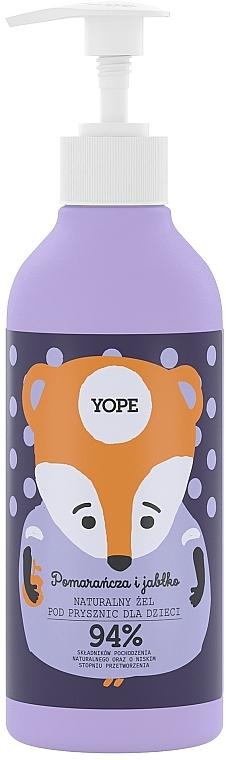 Gel douche naturel pour enfants, Orange et Pomme - Yope