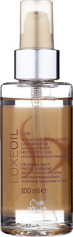 Huile à l'extrait de jojoba et camélia pour cheveux - Wella SP Luxe Oil Reconstructive Elixir