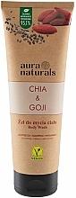 Parfums et Produits cosmétiques Gel douche, Chia et Baies de goji - Aura Naturals Chia & Goji Body Wash