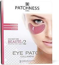 Parfums et Produits cosmétiques Patchs hydratants au collagène pour contour des yeux, 5 paires - Patchness Eye Patch Pink