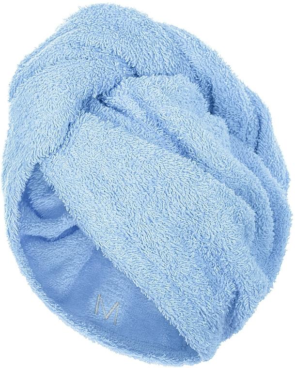 Serviette pour cheveux, bleu, 68x26cm - MakeUp
