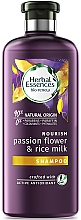 Parfums et Produits cosmétiques Shampooing bio au lait de riz - Herbal Essences Passion Flower & Rice Milk Shampoo