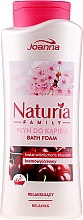 Parfums et Produits cosmétiques Mousse de bain crémeuse relaxante, Fleur de cerisier - Joanna Naturia Family Bath Foam Cherry Blossom