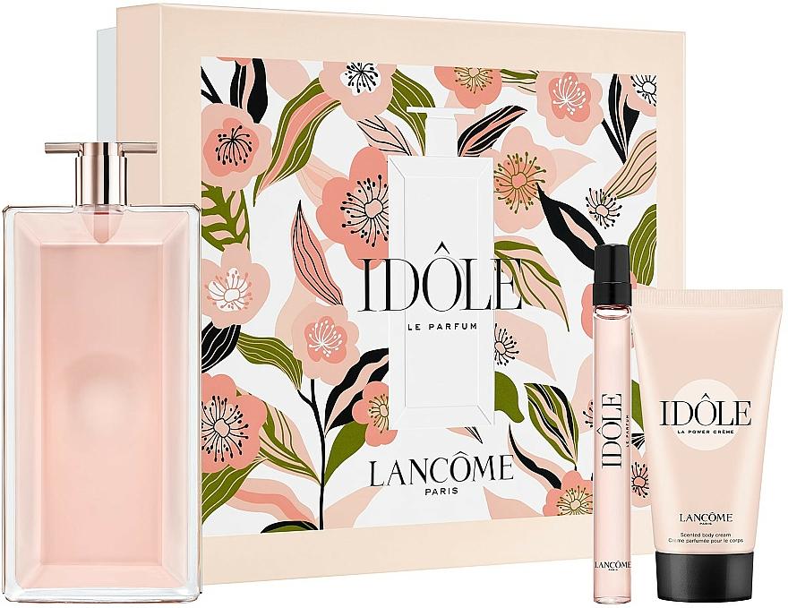 Lancome Idole - Coffret (eau de parfum/100ml + eau de parfum/10ml + crème corporelle/50ml)