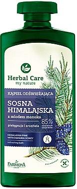 Gel douche et bain rafraîchissant au pin de l'Himalaya et miel de Manuka - Farmona Herbal Care