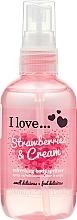 Parfums et Produits cosmétiques Spray rafraîchissant pour corps, Fraises et Crème - I Love... Strawberries & Cream Body Spritzer