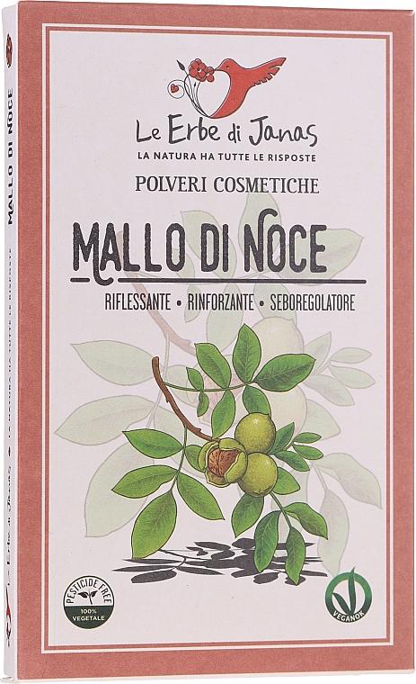Poudre colorante pour cheveux, Cosses de noix - Le Erbe di Janas Pure Walnut Husk Powder — Photo N1