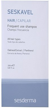 Shampooing à usage quotidien - SesDerma Laboratories Seskavel Frequent Use Shampoo — Photo N1