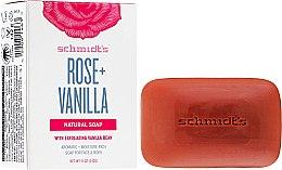Parfums et Produits cosmétiques Savon naturel, Rose et Vanille - Schmidt's Naturals Bar Soap Rose Vanilla