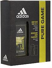 Parfums et Produits cosmétiques Adidas Pure Game - Set (déodorant/75ml + gel douche visage, corps et cheveux /250ml)